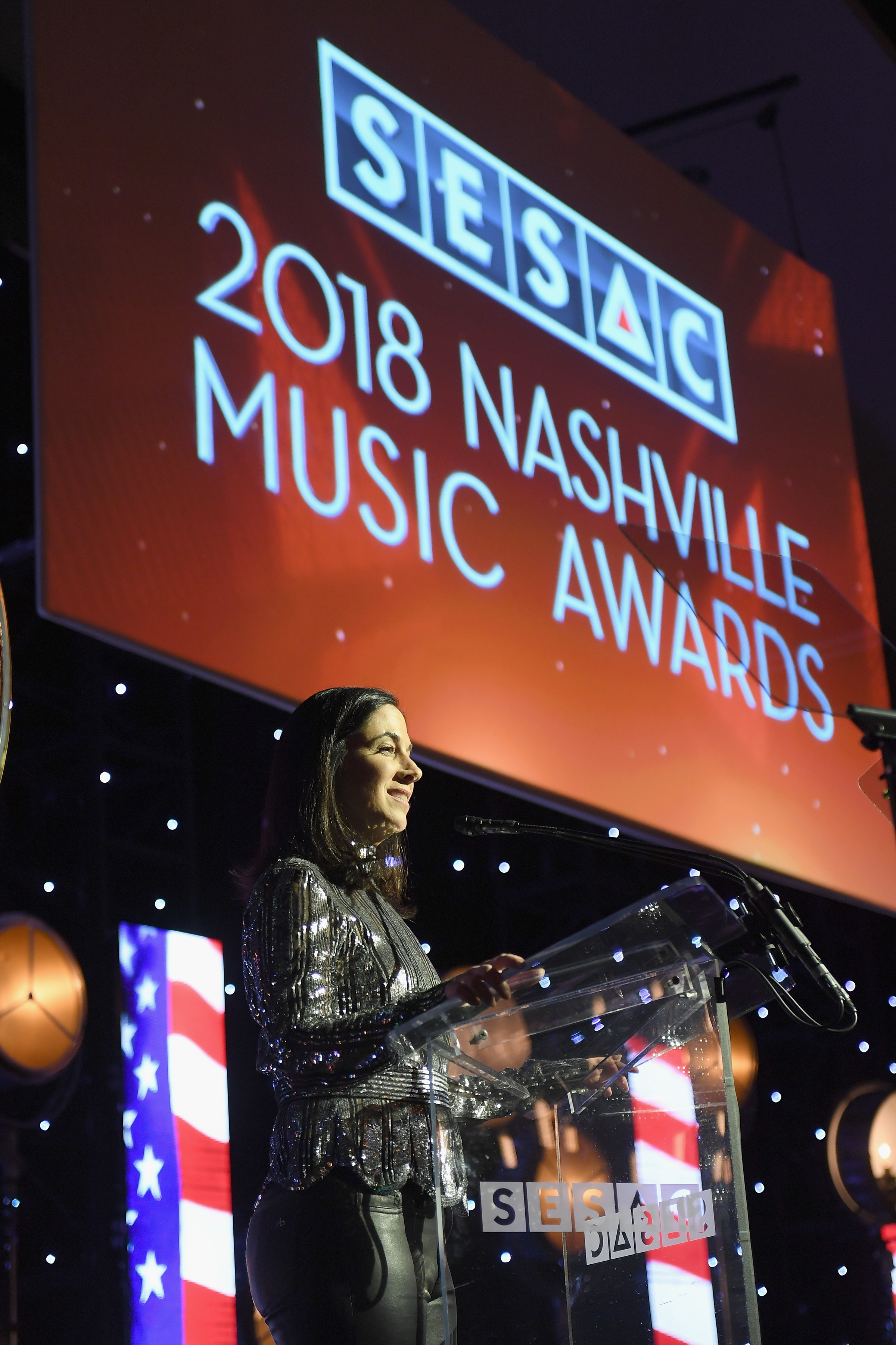 onstage during the 2018 SESAC Nashville Music Awards at Country Music Hall of Fame and Museum on November 11, 2018 in Nashville, Tennessee.